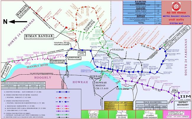 Project Management Subway Map.Metro Railway Kolkata Indian Railways Portal