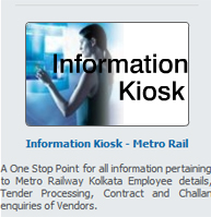 A One Stop Point for all information pertaining to Metro Railway Kolkata Employee details, Tender Processing, Contract and Challan enquiries of Vendors.
