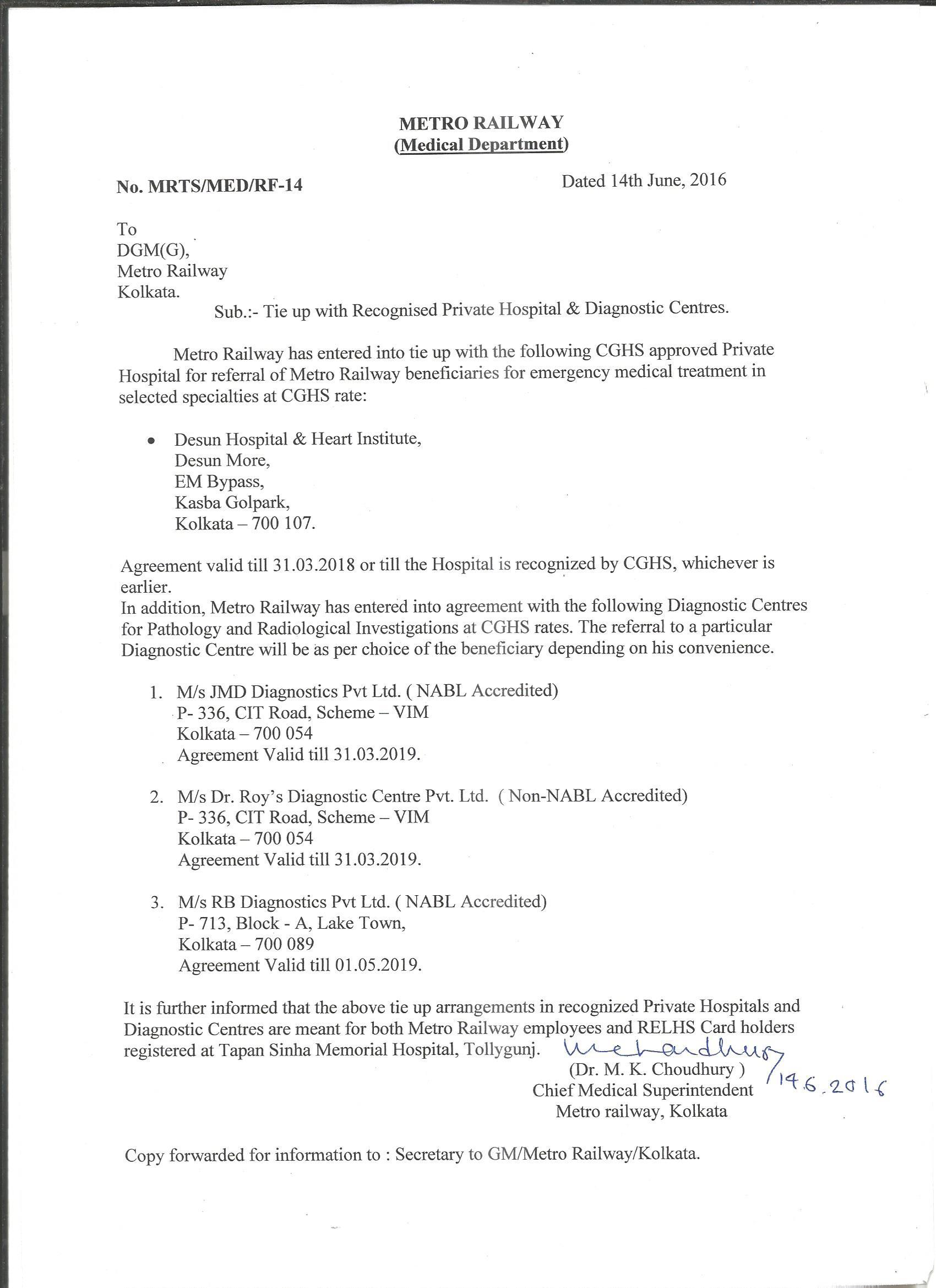 Metro railway kolkata indian railways portal list of private hospitals for emergency medical treatment platinumwayz